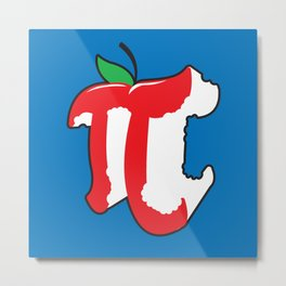 Apple Pi Metal Print