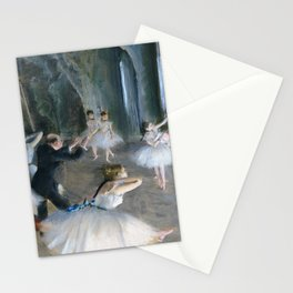 Edgar Degas - The Rehearsal Onstage - Digital Remastered Edition Stationery Cards