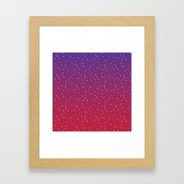 Constellations (Red) Framed Art Print