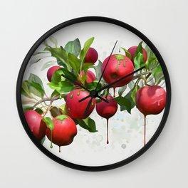 Melting Apples Wall Clock