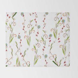 Flower vines Throw Blanket
