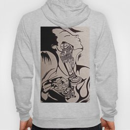 "Ink Rendition of Fernando Vicente's ""belleza interior"" Hoody"