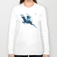elf Long Sleeve T-shirts featuring Elf Archer by Freeminds