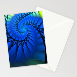 Motion in Blue Stationery Cards