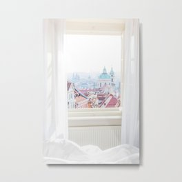 A View Over Prague, Czech Republic Metal Print