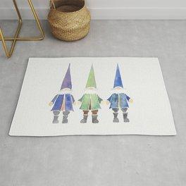 Three funny gnomes Rug
