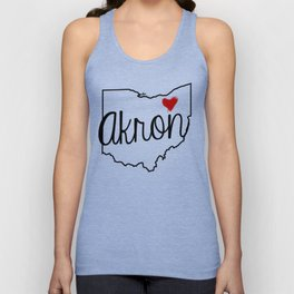 Heart Akron Unisex Tank Top