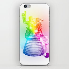 Rainbow Rocket Scientist iPhone Skin