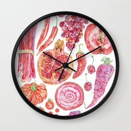 Harvest of Red Wall Clock