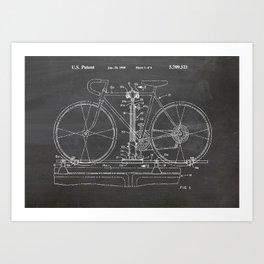Bike carrier patent Art Print