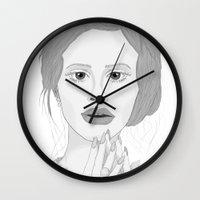 lana Wall Clocks featuring Lana by Gusti
