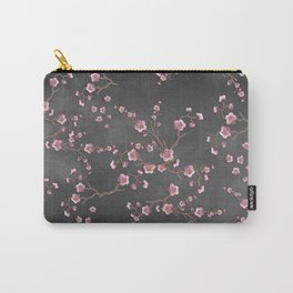 SAKURA LOVE - GRUNGE BLACK Carry-All Pouch