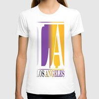 los angeles T-shirts featuring LOS ANGELES  by Robleedesigns