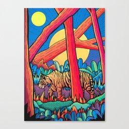 A tiger stroll Canvas Print