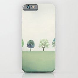 Green Sunny Field II iPhone Case
