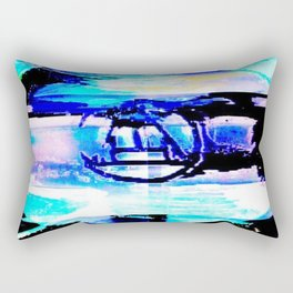 Purple Rune Rectangular Pillow