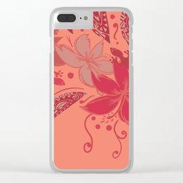 Samoa Watermelon Polynesian Floral Clear iPhone Case