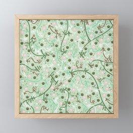 Mint Chip Paw Prints Framed Mini Art Print