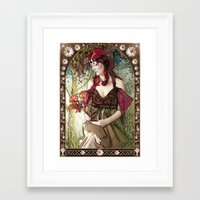 nouveau Framed Art Prints featuring Nouveau by CreativeByDesign