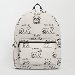 Inhale Exhale Toy Poodle Backpack