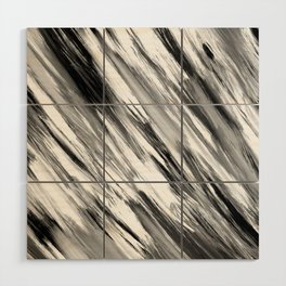 Black and White Painted Tie Dye Multi Media Cool Texture Trending Popular Modern Wood Wall Art