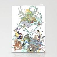 ghibli Stationery Cards featuring Ghibli by Alba Palacio