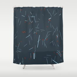 falling particles 03 Shower Curtain