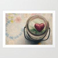 Love in a jar Art Print