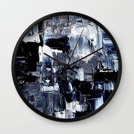 50 Shades... - black & white abstract painting Wall Clock