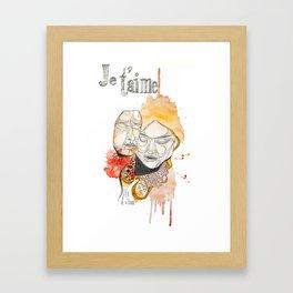 Je t'aime  Framed Art Print