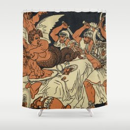 The Harpies Mythology Scene Shower Curtain