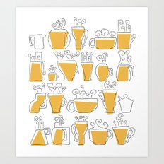Coffee Mugs Art Print