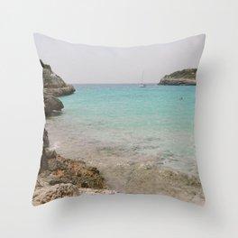 Cala Mendia Throw Pillow