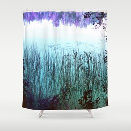 Reflective Tranquility Shower Curtain
