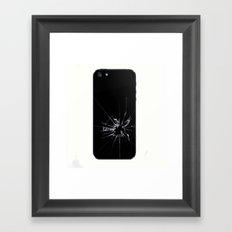 Break glass Framed Art Print