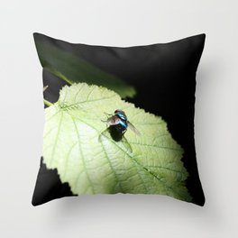 Flies can be pretty too Throw Pillow