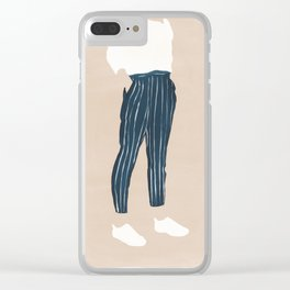 Pinstriped Clear iPhone Case