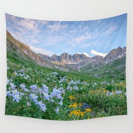 COLORADO HIGH COUNTRY PHOTO -  MOUNTAIN IMAGE - SUMMER WILDFLOWERS PICTURE - LANDSCAPE PHOTOGRAPHY Wall Tapestry