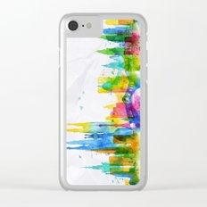 Color Barcelona Skyline 01 Clear iPhone Case