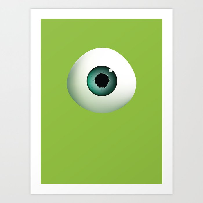 pixar monsters inc mike wazowski art print by davidjhobbs society6