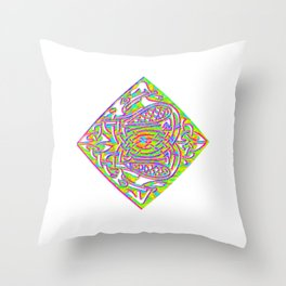 celtic knotted diamond Throw Pillow