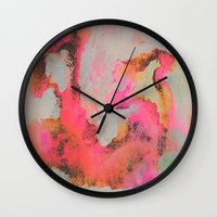 georgiana paraschiv Wall Clocks featuring Bright Day by Georgiana Paraschiv
