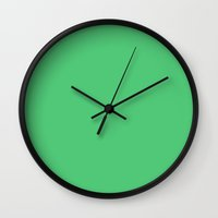 emerald Wall Clocks featuring Emerald by List of colors