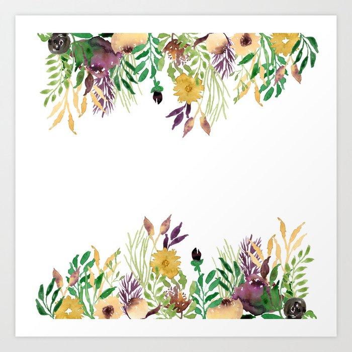 October Flowers Art Print By Webvilla Society6