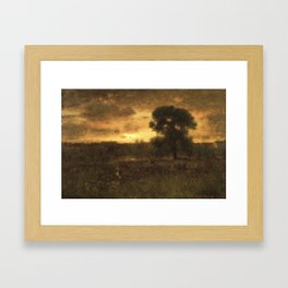 George Inness (American, 1825-1894). Sunrise, 1892. Framed Art Print