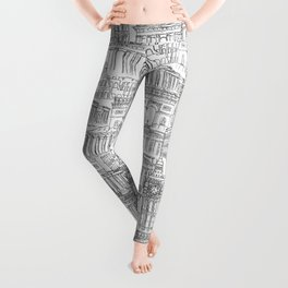 Russian cathedral church line drawing Leggings