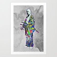 Colorful Samurai Art Print