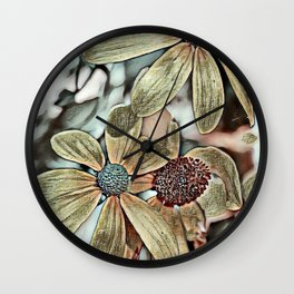 Toony World Floral 1 Wall Clock