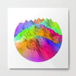 Holopunk Mountains Metal Print