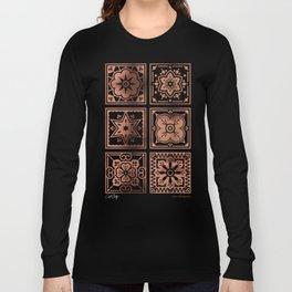 Talavera Mexican Tile – Rose Gold Palette Long Sleeve T-shirt